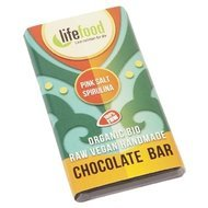 Ciocolata MINI cu spirulina si sare de Himalaya raw bio 15g  Lifefood