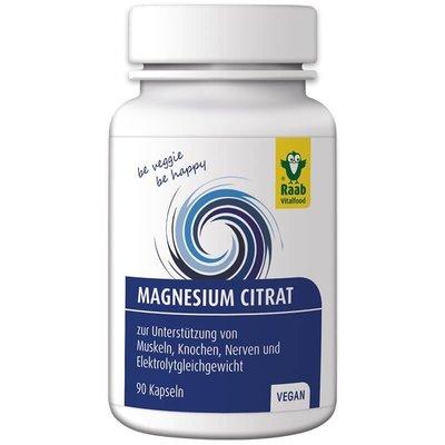 Citrat de magneziu 600mg, 90 capsule vegane RAAB