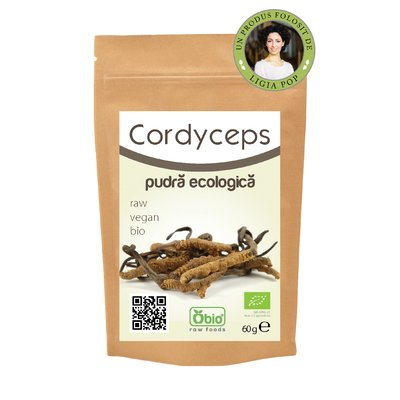 Cordyceps pulbere raw bio 60g PROMO