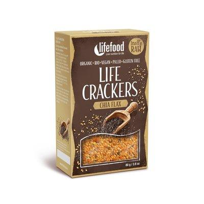Lifecrackers cu chia raw bio 80g Lifefood PROMO