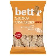 Crackers cu quinoa si susan fara gluten eco 100g Bettr