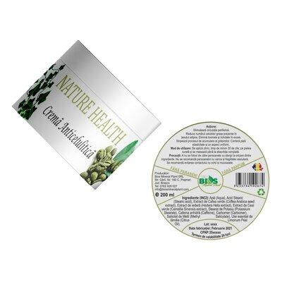 Crema Anticelulitica, 200 ml, Bios Mineral Plant