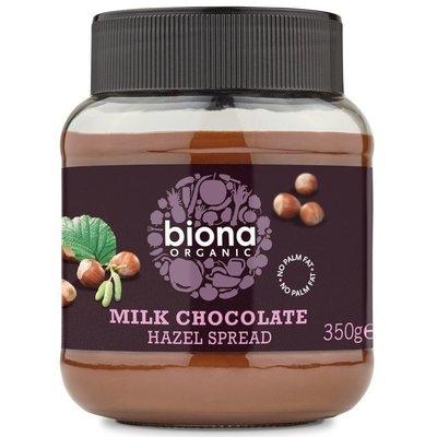 Crema de ciocolata cu lapte si alune de padure bio 350g Biona