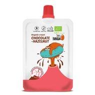Crema de ciocolata si alune de padure bio 50g Super Fudgio