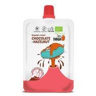 Crema de ciocolata si alune de padure bio 50g Super Fudgio PROMO