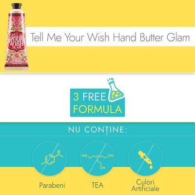 Crema de maini si unghii, Ariul - Tell Me Your Wish Hand Butter Glam, Ultra-hranitoare,  30g