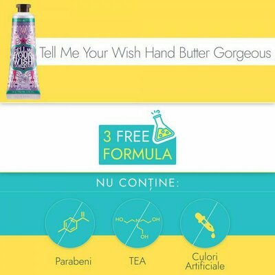 Crema de maini si unghii, Ariul - Tell Me Your Wish Hand Butter Gorgeous, Ultra-hidratare si elasticitate, 30g