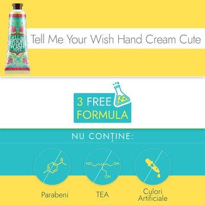 Crema de maini si unghii, Ariul - Tell Me Your Wish Hand Cream Cute, Emoliere si hidratare,  30g