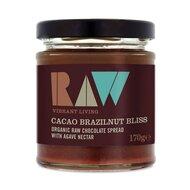 Crema tartinabila cu cacao si nuci braziliene raw eco 170g RAW Health
