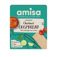 Crispbread (painici) cu faina de castane fara gluten eco, 100g, Amisa