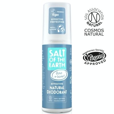 Deodorant natural spray cu note oceanice & cocos Salt of the Earth 100 ml