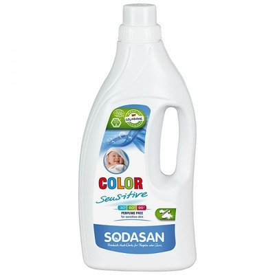 Detergent Bio Lichid Rufe Albe si Color Sensitiv Hipoalergen 1,5 L Sodasan