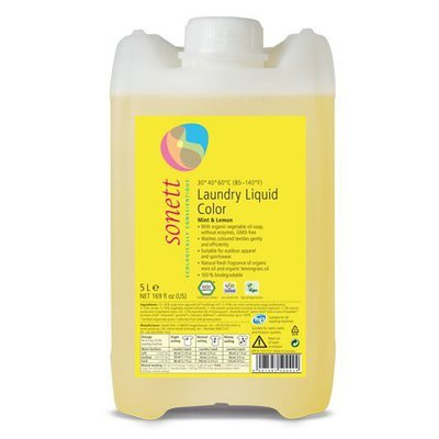 Detergent ecologic lichid pt. rufe colorate 5L Sonett