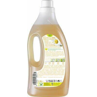 Detergent GEL bio de rufe colorate musetel - portocale - 1.5L Planet Pure