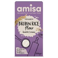 Faina de orez brun bio fara gluten 500g AMISA PROMO