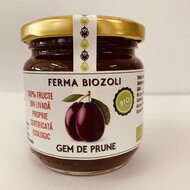 Gem de prune fara zahar bio 212g Ferma Biozoli