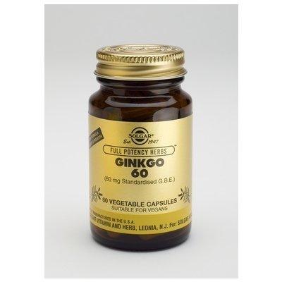 Ginkgo 60 (Ginkgo Biloba) 60cps SOLGAR