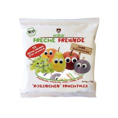Gustare din mix de fructe bio 5 x 14g Erdbar PROMO