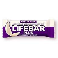 Lifebar Plus baton cu afine si quinoa raw bio 47g PROMO