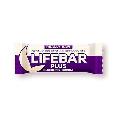Lifebar Plus baton cu afine si quinoa raw bio 47g