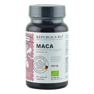 Maca Ecologica din Peru (400 mg - extract 4:1) Republica BIO, 60 capsule (29,7 g)