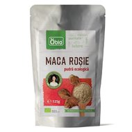Maca rosie pudra raw bio 125g Obio