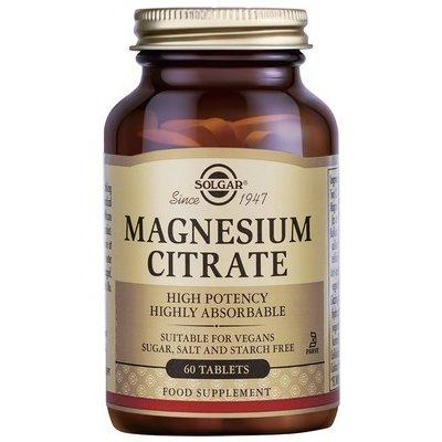 Magnesium Citrate (Citrat de magneziu) 200mg 60tb SOLGAR