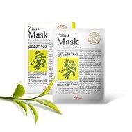 Masca 7days ceai verde, controlul sebumului si exfoliere, 20g, Ariul