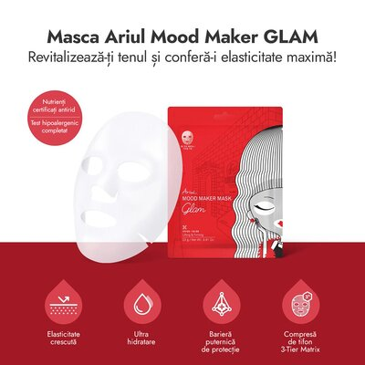 Masca mood maker glam, antirid si fermitate, 23g, Ariul
