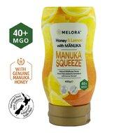 Miere tartinabila din flora salbatica a Noii Zeelande cu miere de Manuka MGO +40 si extract de lamaie MELORA, 400 g, naturala