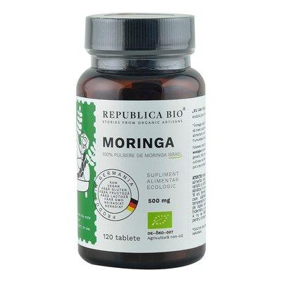 Moringa Ecologica din Israel (500 mg) Republica BIO, 120 tablete (60 g)