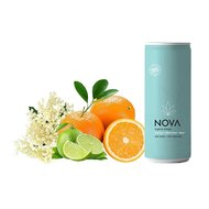 Nova Organic Energy Drink: Portocale, Soc si Lime, 250ml