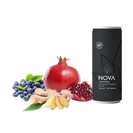 Nova Organic Energy Drink: Rodie, Afine si Ghimbir, 250 ml