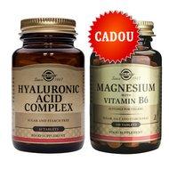 Pachet 1+1 Gratis: Hyaluronic Acid Complex 120mg 30tablete + Magnesium cu B6 100 tablete Gratis SOLGAR