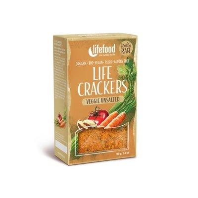 Lifecrackers raw cu legume fara sare bio 90g Lifefood