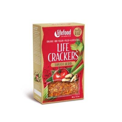 Life crackers raw cu rosii si ierburi bio 90g Lifefood PROMO