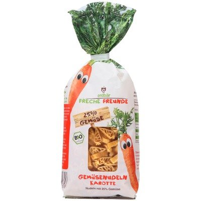 Paste pentru copii cu morcovi bio 300g Erdbar