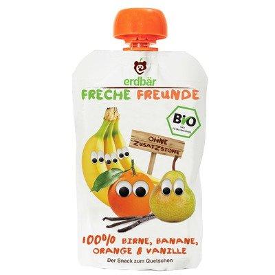 Piure de pere, banane, portocale si vanilie bio 100g Erdbar PROMO