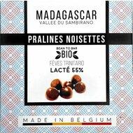 Praline belgiene artizanale cu alune de padure, Madagascar, eco 75g, Millesime