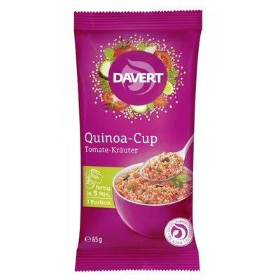 Quinoa cup cu rosii si ierburi bio 65g DAVERT