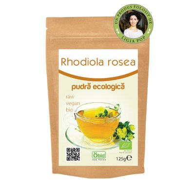 Rhodiola rosea pulbere raw 125 g