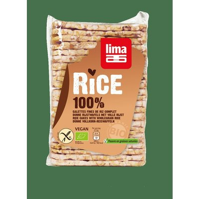 Rondele de orez expandat cu sare bio 130g Lima