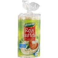 Rondele din orez integral expandat cu sare bio 100g Dennree