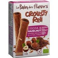 Rulouri crocante cu crema de cacao FARA GLUTEN, bio, 125g, Le Pain Des Fleurs