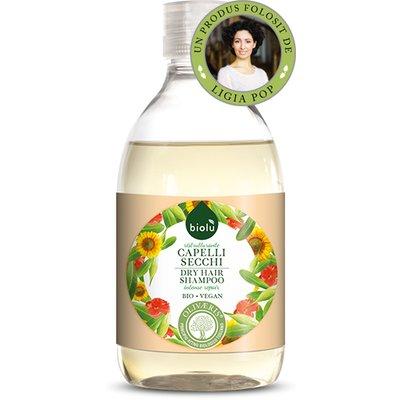 Sampon ecologic cu ulei de masline pentru par uscat/vopsit 300ml Biolu