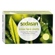 Sapun Crema Bio Ceai Verde si Lime 100 Gr Sodasan