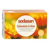 Sapun Crema Bio Galbenele si Aloe 100 Gr Sodasan
