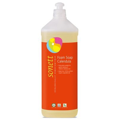 Sapun lichid - gel de dus ecologic spumant cu galbenele pt. copii 1L, Sonett