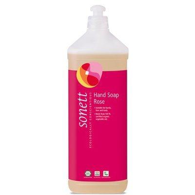 Sapun lichid - gel de dus ecologic Trandafiri 1L, Sonett