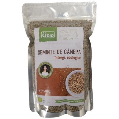 Seminte de canepa bio intregi 500g